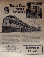 Advertisement - Phoebe Snow Lackawanna RR 1851-1951 - Product Image
