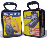 Rosie the Riveter Snack  / Lunch Box - Product Image